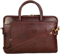 View Creative India Exports 13 inch Laptop Messenger Bag(Brown) Laptop Accessories Price Online(Creative India Exports)