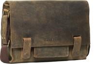 Leather Zentrum 15 inch Laptop Messenger Bag(Brown)
