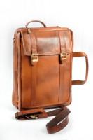 Nerita 14 inch Expandable Laptop Messenger Bag(Tan)
