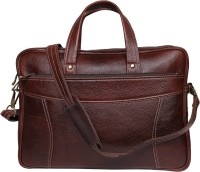 View Leatherworld 15 inch Laptop Messenger Bag(Brown) Laptop Accessories Price Online(Leatherworld)