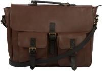 View Leder Concepts 17 inch Laptop Messenger Bag(Brown) Laptop Accessories Price Online(Leder Concepts)