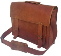 View Pranjals House 15 inch Laptop Messenger Bag(Brown) Laptop Accessories Price Online(Pranjals House)