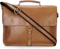 View The House of Tara 16 inch Laptop Messenger Bag(Tan) Laptop Accessories Price Online(The House of Tara)