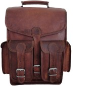 View CRAFAT 15 inch Laptop Backpack(Brown) Laptop Accessories Price Online(CRAFAT)