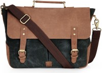View The House of Tara 15.6 inch Laptop Messenger Bag(Blue, Brown) Laptop Accessories Price Online(The House of Tara)