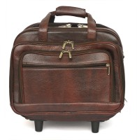 WestHide 14 inch Trolley Laptop Strolley Bag(Brown)