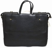 View Leather Bags & More... 15 inch Laptop Messenger Bag(Black) Laptop Accessories Price Online(Leather Bags & More...)