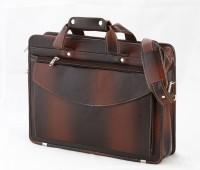 View Borse 15 inch Laptop Messenger Bag(Brown) Laptop Accessories Price Online(Borse)