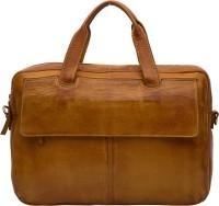 View Leder Concepts 15 inch Laptop Messenger Bag(Tan) Laptop Accessories Price Online(Leder Concepts)