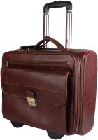 Madame Exclusive 16 inch Trolley Laptop Strolley Bag(Brown)
