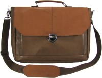 View The House of Tara 16 inch Laptop Messenger Bag(Brown, Tan) Laptop Accessories Price Online(The House of Tara)