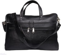 View Leather World 15 inch Laptop Messenger Bag(Black) Laptop Accessories Price Online(Leather World)