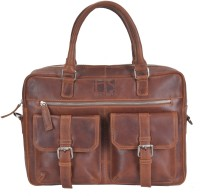 Hidestitch 14 inch Laptop Messenger Bag(Tan)