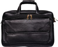 View Leather World 16 inch Laptop Messenger Bag(Black) Laptop Accessories Price Online(Leather World)