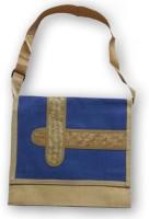 View ART ME 15.6 inch Expandable Laptop Messenger Bag(Blue) Laptop Accessories Price Online(ART ME)