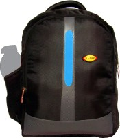 View Nl Bags 16 inch Laptop Backpack(Black, Blue) Laptop Accessories Price Online(Nl Bags)