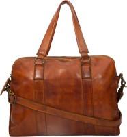View Leder Concepts 15 inch Expandable Laptop Messenger Bag(Tan) Laptop Accessories Price Online(Leder Concepts)