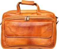 View Leather World 16 inch Laptop Messenger Bag(Multicolor) Laptop Accessories Price Online(Leather World)