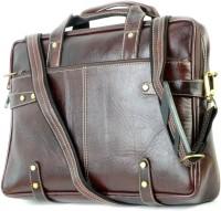 View Shoegaro 14 inch Laptop Messenger Bag(Brown) Laptop Accessories Price Online(Shoegaro)