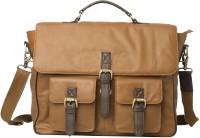 View Romari 17 inch Laptop Messenger Bag(Brown) Laptop Accessories Price Online(Romari)