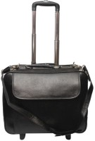 Nerita 16 inch Expandable Trolley Laptop Strolley Bag(Black)