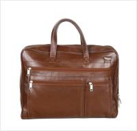 Kara 10 inch Expandable Laptop Messenger Bag(Brown)