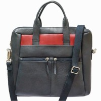 View Jeane Sophie 13 inch Laptop Messenger Bag(Blue, Red) Laptop Accessories Price Online(Jeane Sophie)