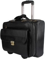 Madame Exclusive 16 inch Trolley Laptop Strolley Bag(Black)