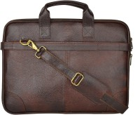 View Leatherworld 15.6 inch Laptop Messenger Bag(Brown) Laptop Accessories Price Online(Leatherworld)