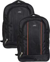 Vape 17 inch Expandable Laptop Backpack(Grey, Orange)
