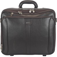 Adamis 14 inch Trolley Laptop Strolley Bag(Brown)