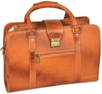 View Leather Bags & More... 17 inch Laptop Messenger Bag(Tan) Laptop Accessories Price Online(Leather Bags & More...)