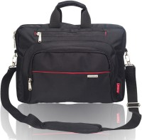 View Cosmus 15.6 inch Laptop Messenger Bag(Black, Red) Laptop Accessories Price Online(Cosmus)