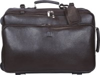 Adamis 18 inch Trolley Laptop Strolley Bag(Brown)