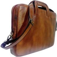View Kivalo 18 inch Laptop Messenger Bag(Tan) Laptop Accessories Price Online(Kivalo)