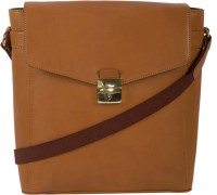 View Leder Concepts 14 inch Laptop Messenger Bag(Tan) Laptop Accessories Price Online(Leder Concepts)