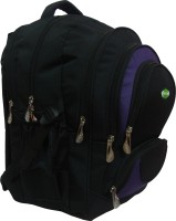 View Nl Bags 16 inch Laptop Backpack(Black, Purple) Laptop Accessories Price Online(Nl Bags)