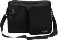 View Herman Hansen 15 inch Expandable Laptop Messenger Bag(Black) Laptop Accessories Price Online(Herman Hansen)