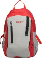 View Comfy 16 inch Laptop Backpack(Red, Grey) Laptop Accessories Price Online(Comfy)