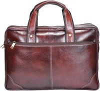 View Hide Stitch 14 inch Laptop Messenger Bag(Brown) Laptop Accessories Price Online(Hide Stitch)