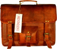 View Adimani 15 inch Laptop Messenger Bag(Brown) Laptop Accessories Price Online(Adimani)