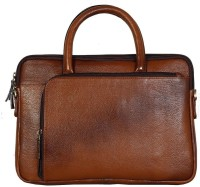 View Leather Bags & More... 15.6 inch Laptop Messenger Bag(Tan) Laptop Accessories Price Online(Leather Bags & More...)