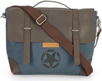 View The House of Tara 16 inch Laptop Messenger Bag(Blue) Laptop Accessories Price Online(The House of Tara)