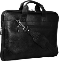 View Leather Bags & More... 15 inch Expandable Laptop Messenger Bag(Black) Laptop Accessories Price Online(Leather Bags & More...)