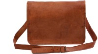 View Pranjals House 11 inch Laptop Messenger Bag(Brown) Laptop Accessories Price Online(Pranjals House)