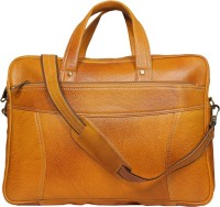 View Leatherworld 15 inch Laptop Tote Bag(Orange) Laptop Accessories Price Online(Leatherworld)