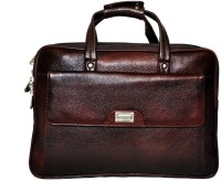 View Leather Bags & More... 17 inch Laptop Messenger Bag(Brown) Laptop Accessories Price Online(Leather Bags & More...)