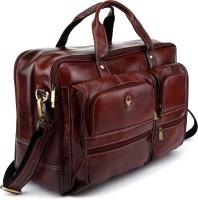 View WildHorn 16 inch Laptop Messenger Bag(Brown) Laptop Accessories Price Online(WildHorn)