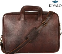 View Kivalo 18 inch Laptop Messenger Bag(Brown) Laptop Accessories Price Online(Kivalo)