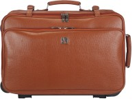 Adamis 18 inch Trolley Laptop Strolley Bag(Tan)